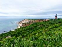 Cape Cod fyr och himmel royaltyfri bild