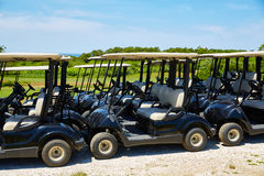 Cape Cod Golf carts Truro Massachusetts US Royalty Free Stock Photography