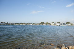 Cape Cod. CApe Cod harbor and traditional American homes Stock Photography
