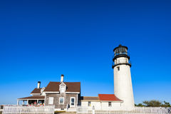 Cape Cod Highland Lighthouse in Massachusetts. Truro,Massachusetts,USA - September 13, 2016:  Cape Cod Highland Lighthouse in Massachusetts. The oldest 1797 and Royalty Free Stock Images