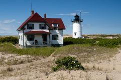 Cape Cod Historic Lighthouse in Provincetown Royalty Free Stock Photography