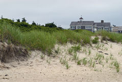 Cape Cod Homes and Dunes Royalty Free Stock Image