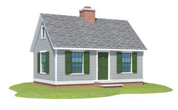 Cape Cod House Rendering Royalty Free Stock Image