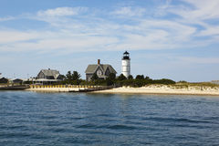 Cape cod: houses by the sea Stock Photography