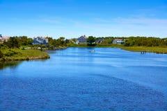 Cape Cod knuffar till floden Massachusetts Arkivfoton