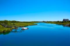 Cape Cod knuffar till floden Massachusetts Royaltyfri Foto