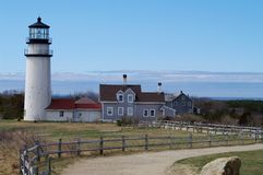 Cape Cod Light. With Provincetown in the background Royalty Free Stock Photography