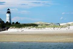 Cape Cod Lighthouse. Lighthouse and beach scene off Cape Cod Stock Photography