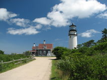 Cape Cod lighthouse landscape Stock Photo