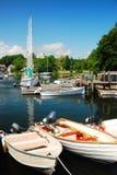 Cape Cod Marina stock image