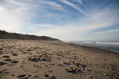 Cape Cod plaża w późnym popołudniu fotografia stock