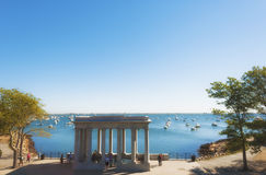Cape Cod Plymouth Rock image stock