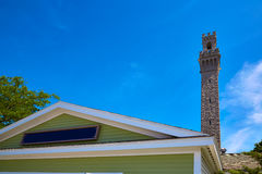 Cape Cod Provincetown Pilgrim tower Massachusetts Royalty Free Stock Images