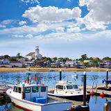 Cape Cod Provincetown port Massachusetts US. Cape Cod Provincetown port in Massachusetts USA Royalty Free Stock Photos