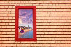 Cape Cod Provincetown window photomount MA Stock Images