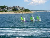 Cape Cod, Sailboats 01. Sailboats on Falmouth Harbor, Cape Cod Stock Images