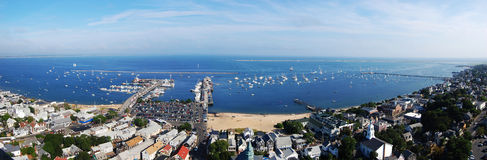 Cape Cod seashore panorama. Viewed from Pilgrim Monument, Massachusetts Stock Image