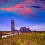 Cape Cod Truro latarnia morska Massachusetts USA Zdjęcie Stock