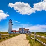 Cape Cod Truro lighthouse Massachusetts US Royalty Free Stock Images