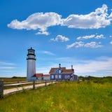 Cape Cod Truro lighthouse Massachusetts US Royalty Free Stock Image