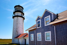 Cape Cod Truro lighthouse Massachusetts US Royalty Free Stock Photos