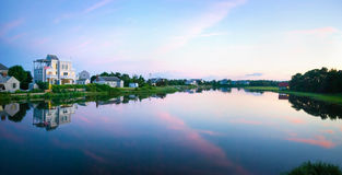 Cape Cod Twilight Panorama Royalty Free Stock Images