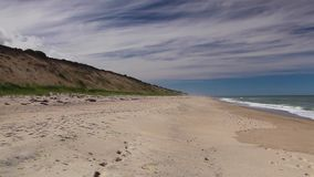 Cape Cod vuoto Sandy Neck Beach in Barnstable stock footage