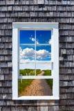 Cape Cod window photomount Massachusetts Stock Image