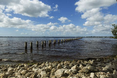 Cape Coral, Florida. View from beach on Cape Coral Royalty Free Stock Photography