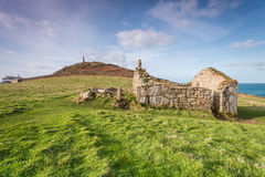 Cape Cornwall and church in cornwall england uk kernow Stock Images