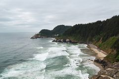 Cape Cove, Heceta Head Lighthouse royalty free stock photos