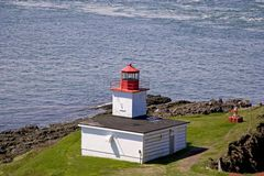 Cape D'Or Lighthouse. The Lighthouse and foghorn at Cape D'Or, Nova Scotia, Canada Stock Images