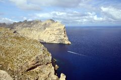 Cape de Formentor. Is an impressive landscape and one of the well known tourist attractions of Mallorca Royalty Free Stock Photos