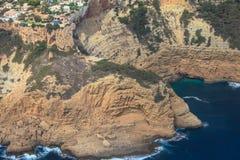 Cape de la Nau dans Javea, Alicante, Espagne Photos stock