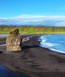 The cape Dirkholaey in Iceland Stock Photography