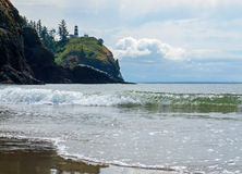 Cape Disappointment Lighthouse on the Washington Coast USA Stock Photo