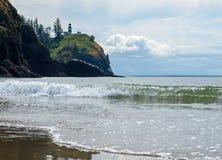 Cape Disappointment Lighthouse on the Washington Coast USA Stock Photo