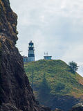 Cape Disappointment Lighthouse on the Washington Coast USA Stock Photos