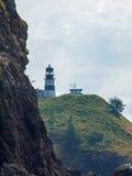 Cape Disappointment Lighthouse on the Washington Coast USA Stock Photos