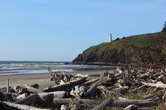 Cape Disappointment Lighthouse Royalty Free Stock Photography