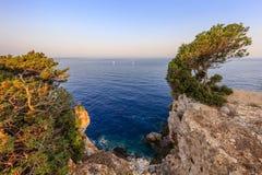 Cape Doukato, Lefkada island, Greece. Cape Doukato in the Lefkada island, Greece Stock Photos