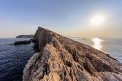 Cape Doukato, Lefkada island, Greece. Sunrise in Cape Doukato. Lefkada island, Greece Royalty Free Stock Images