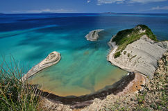 Cape drastis. On corfu island, greece Stock Photos