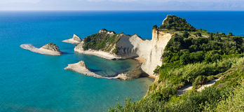Cape Drastis cliffs on Corfu island, Greece Stock Photos