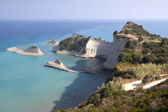 Cape Drastis at Corfu island Royalty Free Stock Images