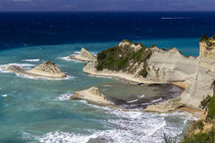 Cape Drastis, Corfu. Cape Drastis on the north coast of Corfu Stock Image