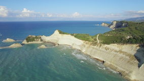 Cape Drastis Greece Corfu Aerial 4K stock video footage