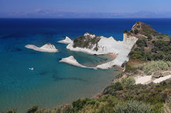 Cape Drastis on the Greek island of Corfu Stock Photo