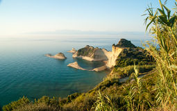 Cape Drastis at sunset, Corfu Island, Greece Royalty Free Stock Photo