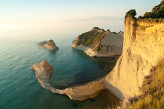 Cape Drastis at sunset, Corfu Island, Greece Stock Photography